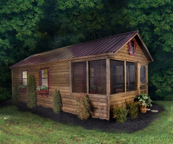 Log Cabins Log Camping Cabin   Lawn Mowers and Intimidator