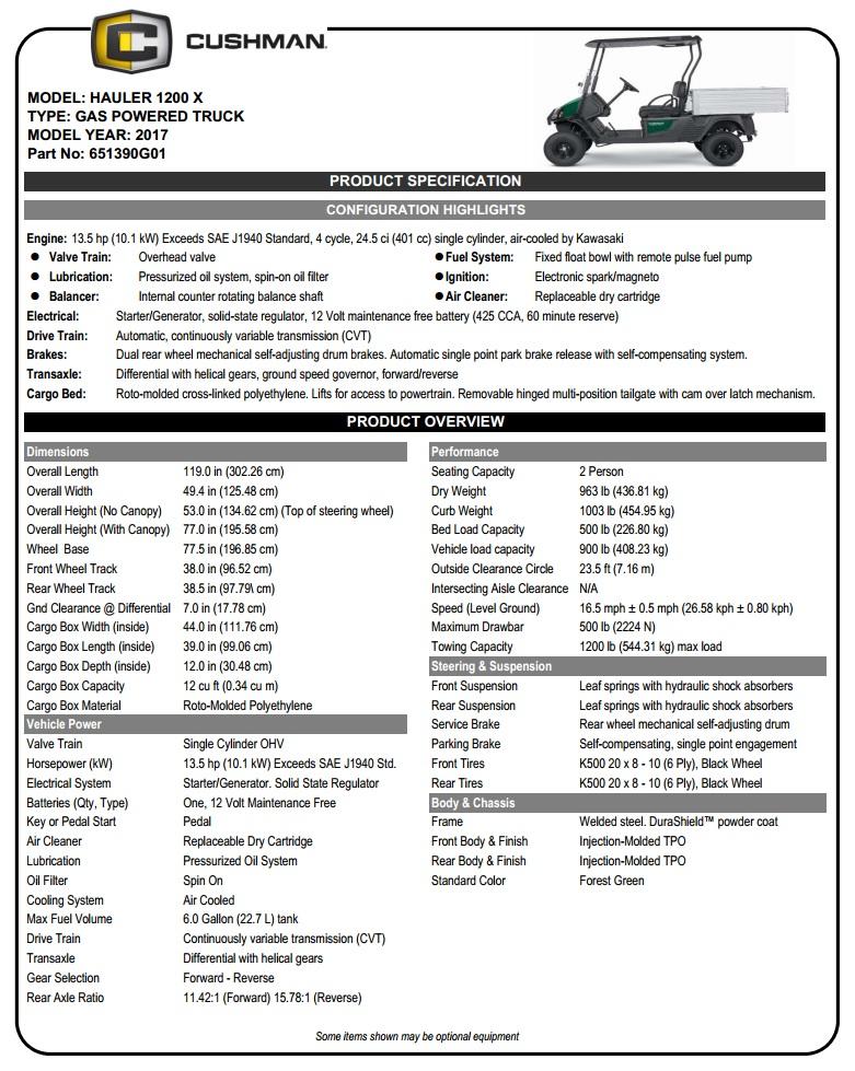 Golf Utility - Hauler 1200X Gas | Drew's Custom Carts | Port