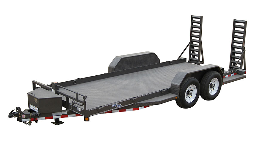 "2015 Load Trail 80"" X 18' Tandem Axle Bobcat DPF DP Runing Boards Front Tool Box Fold Up Ramps"