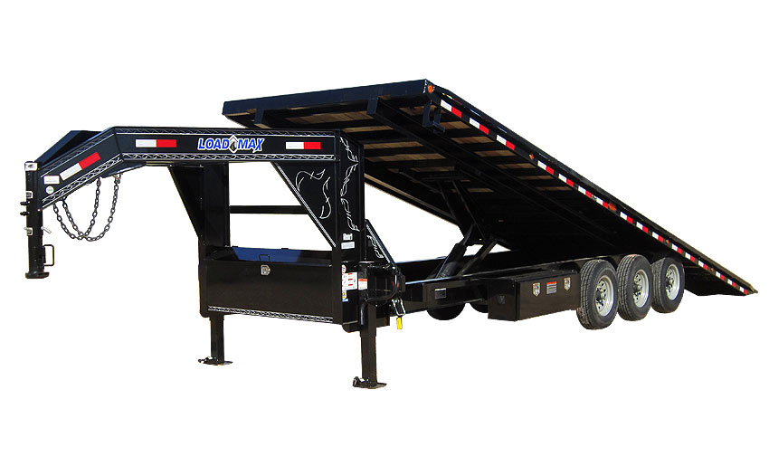 "2018 Load Trail 102"" X 32' Triple Gooseneck Equipment Equipment Trailer"