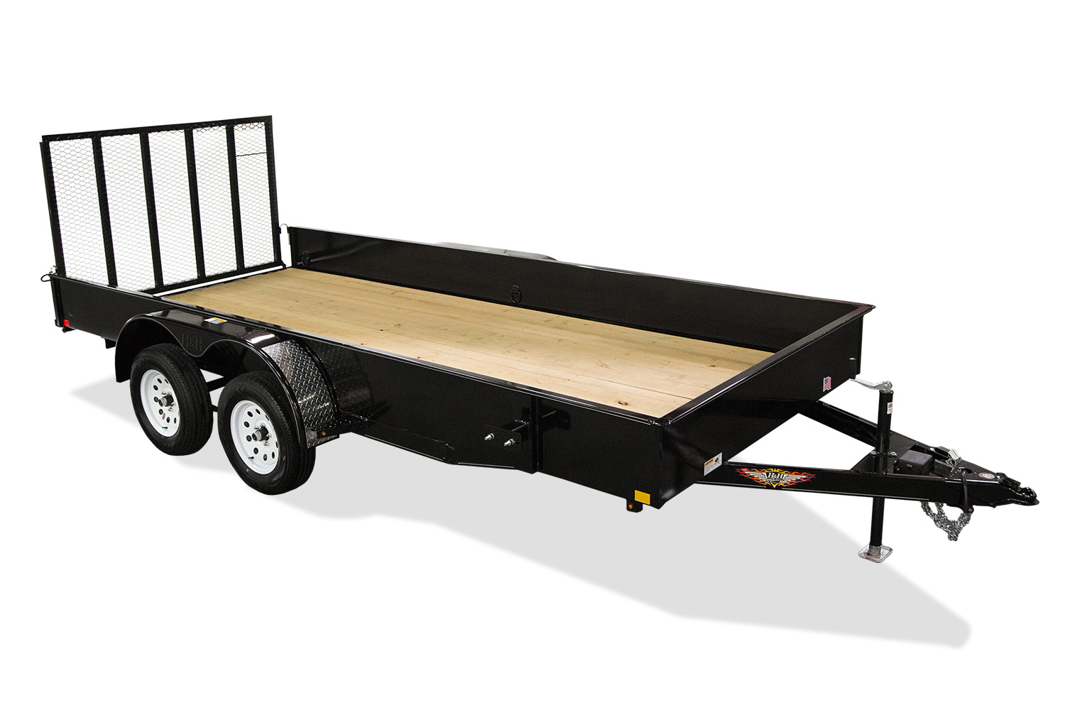 2020 H and H Trailer 82X16 STEEL SOLID SIDE TANDEM 10K