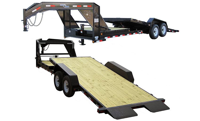 "2015 Load Trail 81.5"" x 24' Gooseneck Tilt Deck 2-7000 lb Tors. 2 Brakes w/Gravity"