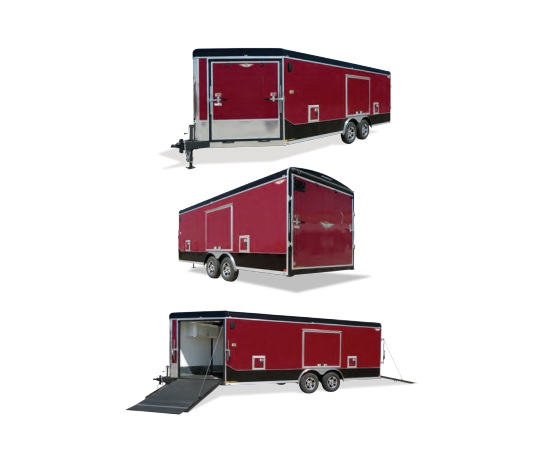 2020 H and H Trailer 101X28 TL R-TOP CARHAUL GN VN 24K CARGO