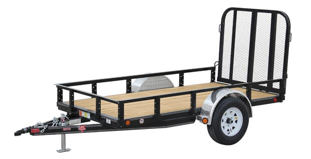 PJ Trailers 60 in. Single Axle Channel Utility (U6)