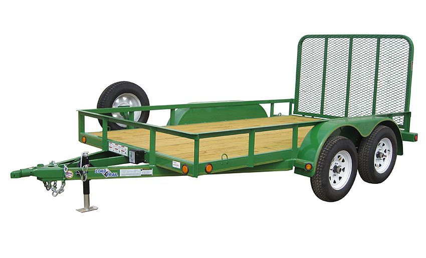 "2016 Load Trail 77"" X 18' Tandem Axle Utility 2-3500 lb w/1 Brake"