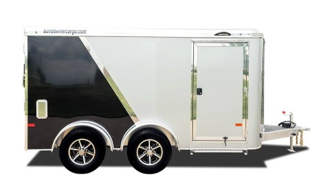 Low Hauler Motorcycle V Nose Wt2 Enclosed Trailers