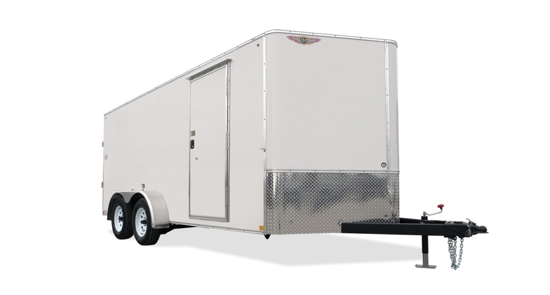 2018 H and H Trailer 8X18 TDM FLAT TOP HH VN 10K CARGO