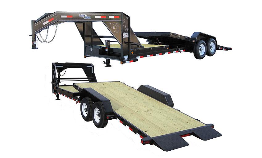 "2016 Load Trail 102"" x 24' Gooseneck Tilt Deck 2-7000 lb Tors. 2 Brakes w/Power"