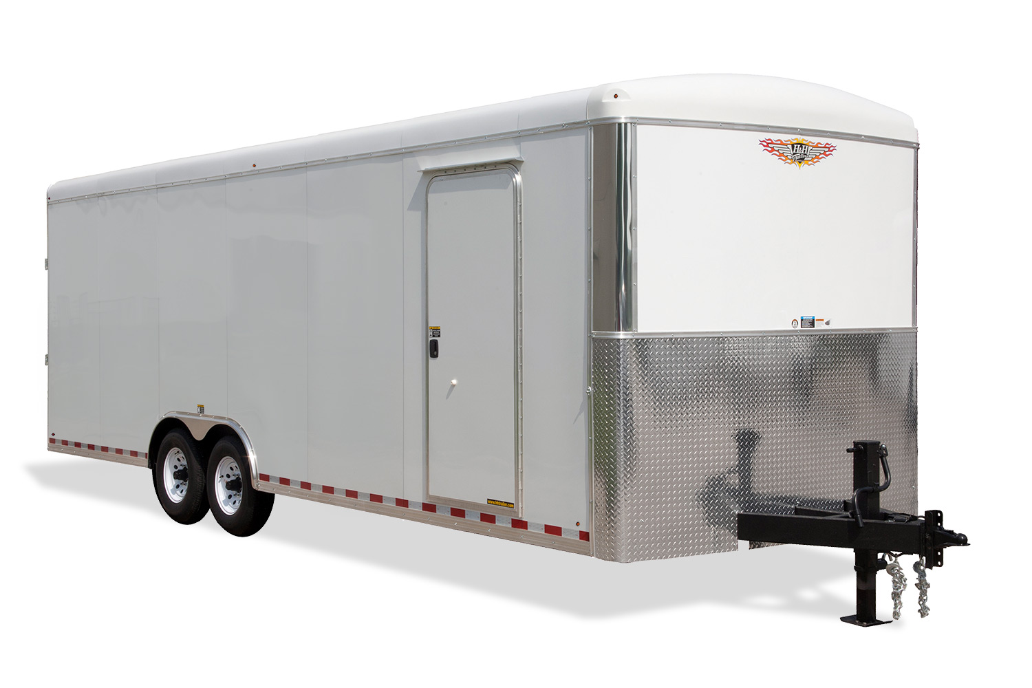 2019 H and H Trailer 101X28 TL R-TOP CARHAUL VNOSE 21K CARGO