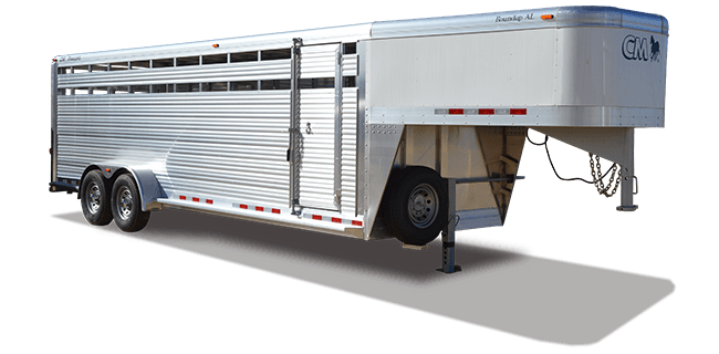 CM Trailers Roundup AL 16′ X 6'8″ X 7′ with2-5200# axles, 16″ tires & 6-hole wheels