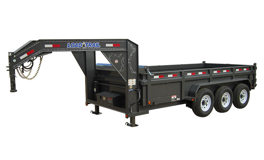 "2015 Load Trail 83"" x 16' Low Pro Triple Axle Gooseneck Dump (with scissor lift)"