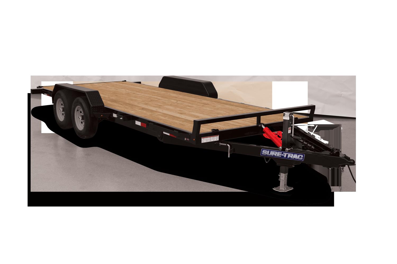 Sure-Trac 7 x 18 Tilt Bed Car Hauler Trailer (ST8218CHWT-B-070)