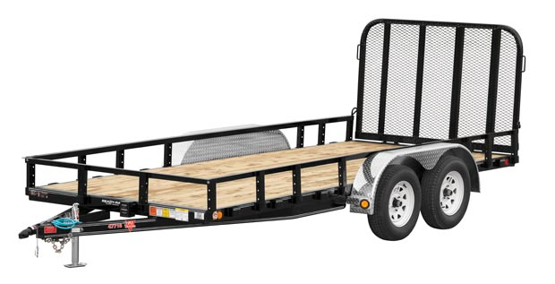 PJ Trailers 77 in. Tandem Axle Channel Utility (UK)