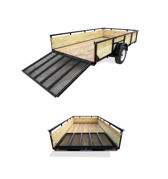 2019 H and H Trailer 8X12 STEEL WOOD SIDE 3.5K