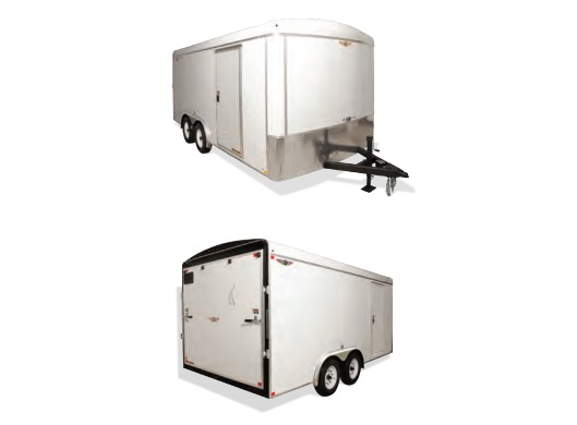 2020 H and H Trailer 7X16 TANDEM RND TOP TL VNOSE 10K CARGO