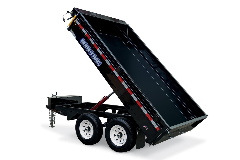 2019 Sure-Trac 72 IN X 10 Deckover Dump 7K Single Ram