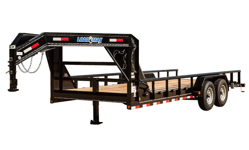 "2017 Load Trail 83"" X 24' Gooseneck Carhauler w/8"" Channel Frame & Pipe Top"