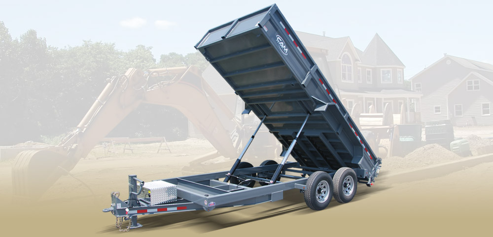 2020 Cam Superline 6 Ton Low Profile Heavy Duty Dump Traile