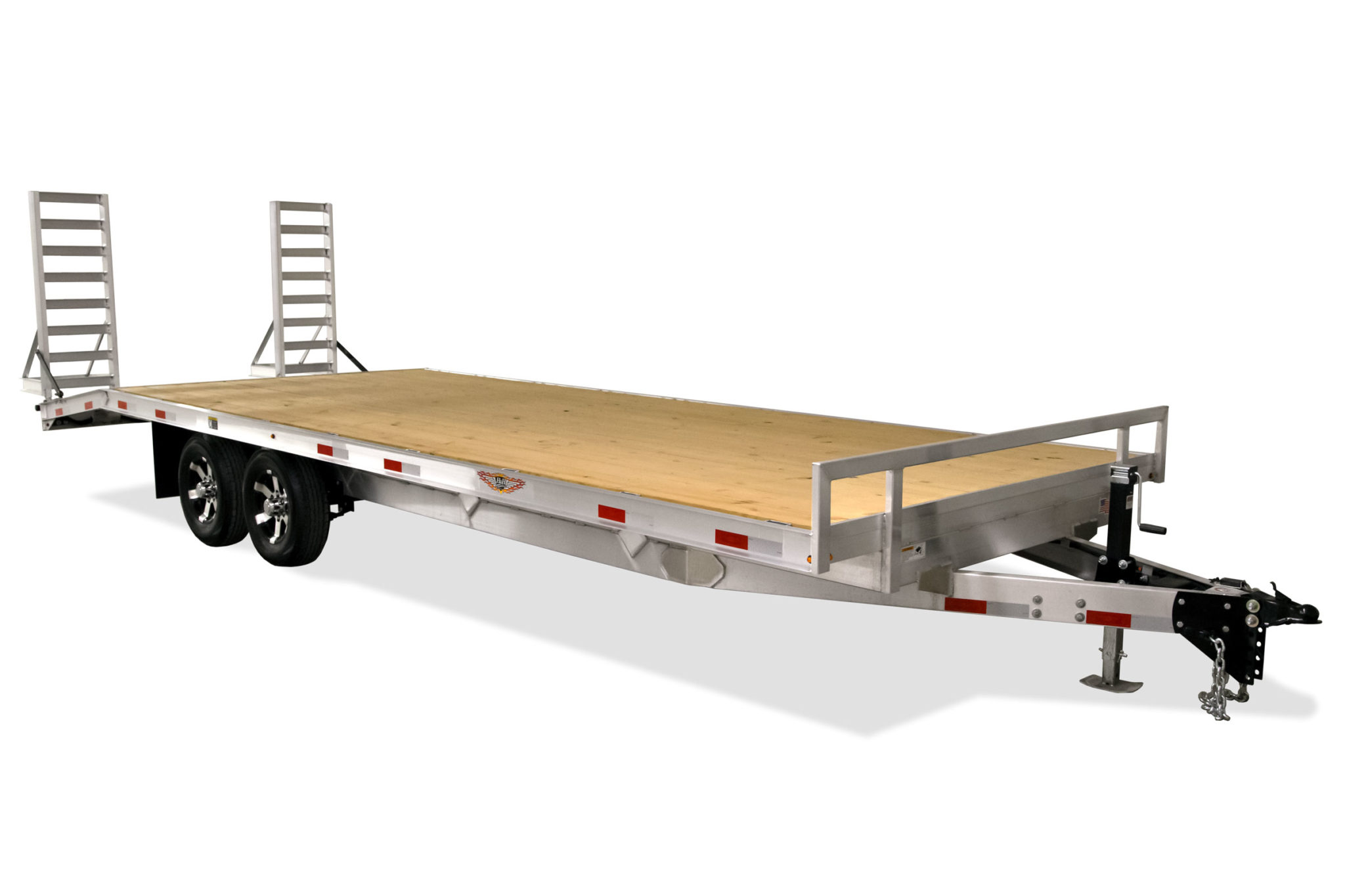2020 H and H Trailer 102 x 24 DOVE ALUM DECKOVER 14K