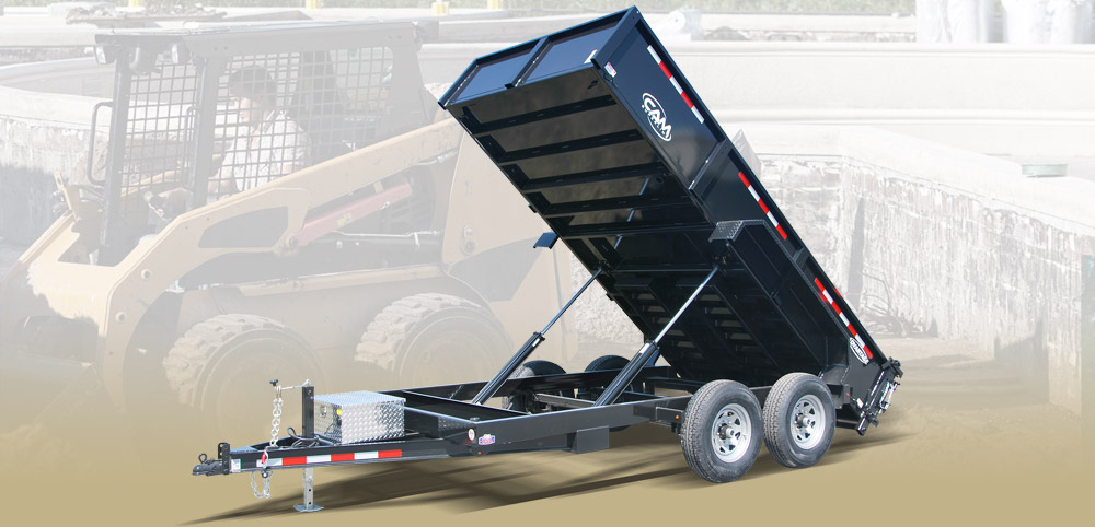 2019 Cam Superline 6.8 X 12 6 Ton Advantage HD Low Profile Dump Trailer