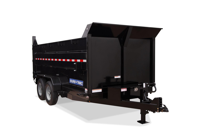 2020 Sure-Trac 82 IN X 14 LP 14K Dual Ram Dump 4ft Side STOCK# 2022039