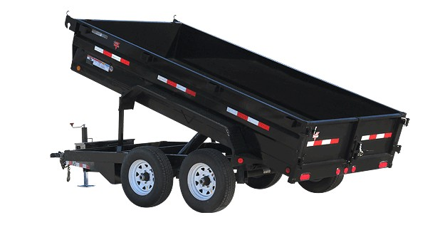 PJ Trailers 72 in. Tandem Axle Dump (D3)