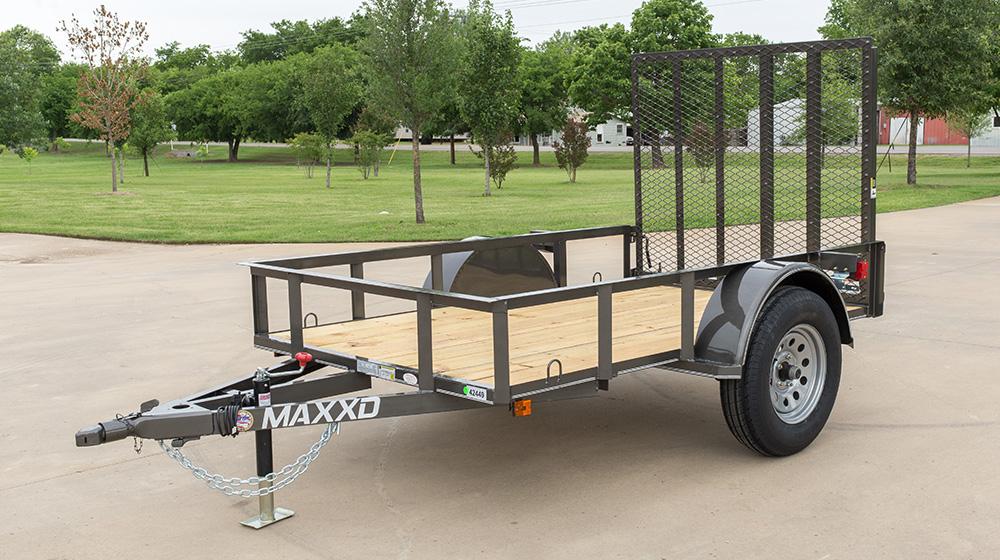 MAXXD S2M - White Series Angle Single Axle Utility Trailer