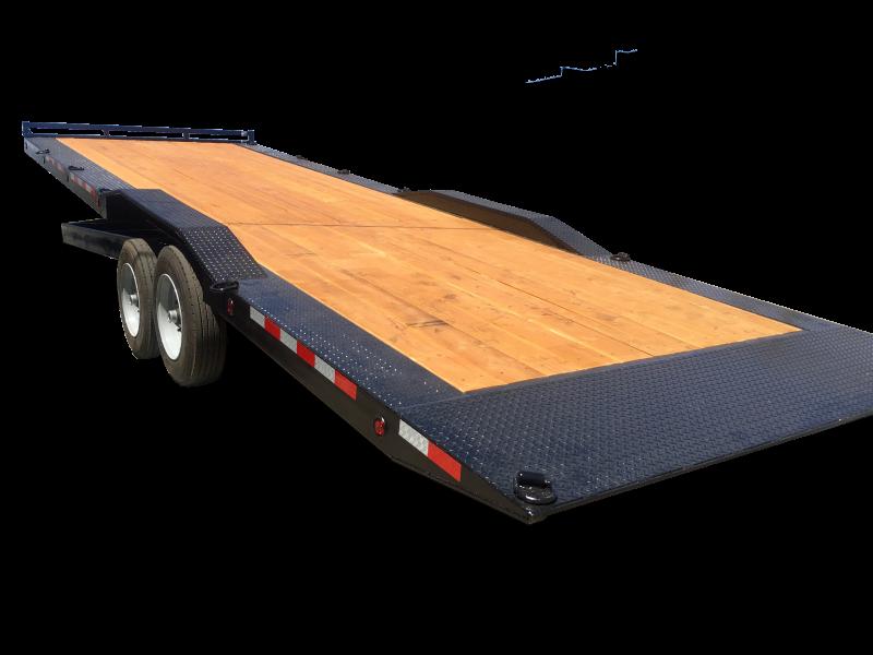 "R & J Trailers Inc 102"" x 28' 16K Tilt Bed Car Hauler"