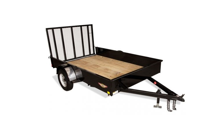 2019 H and H Trailer 5.5X10 STEEL SOLID SIDE 3.5K