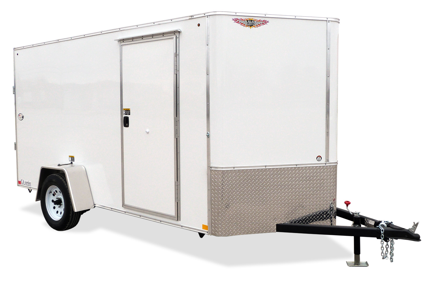 2019 H and H Trailer 5X10 SINGLE FLAT TOP HH VNOSE 3.5K CARGO