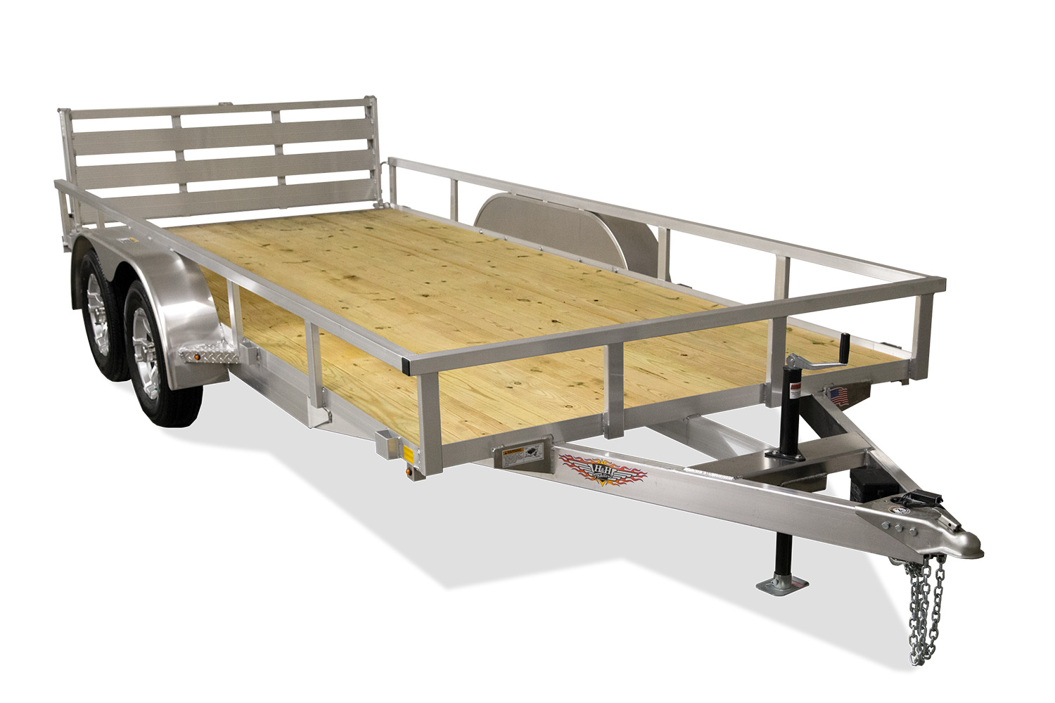 "2020 H and H Trailesr 6'8"" X 16'  Tandem Aluminum Landscape Trailer 7K"