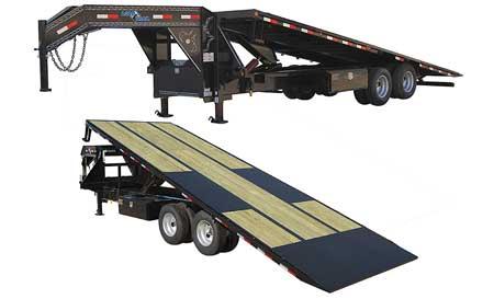 "Load Trail GT30 - Gooseneck Equipment Tilt Deck 30000 Lb w/12"" 22 Lb I-Beam Frame"