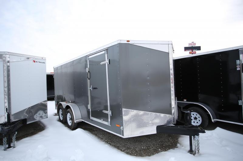 NEW RC Trailers 7 x 16 Double Door Enclosed Cargo Trailer