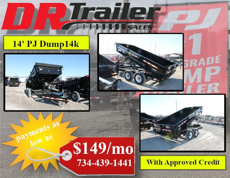 2020 PJ Trailers 14 Ft DL 14K Dump Trailer