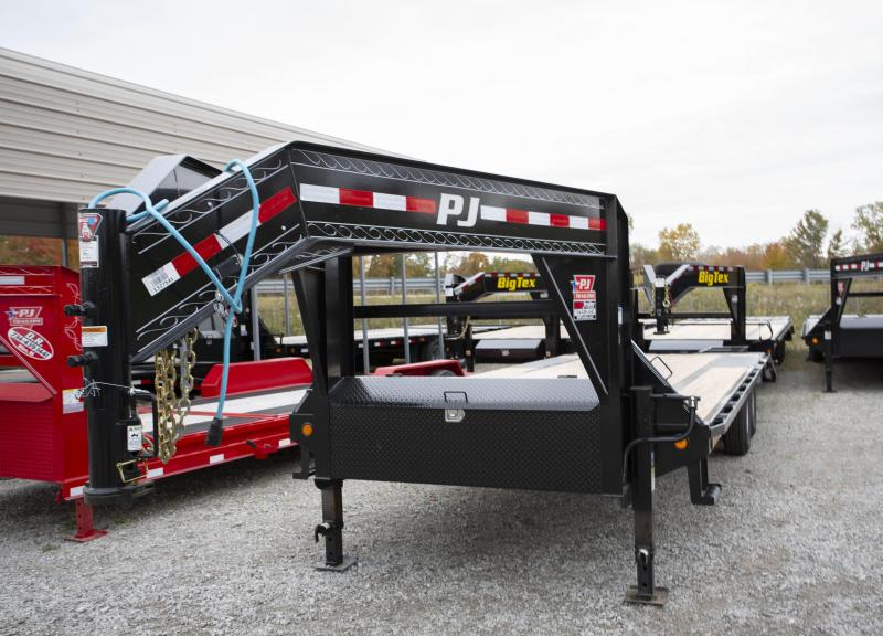 2020 PJ Trailers 25 ft 2 Ramp Gooseneck Flatbed Trailer