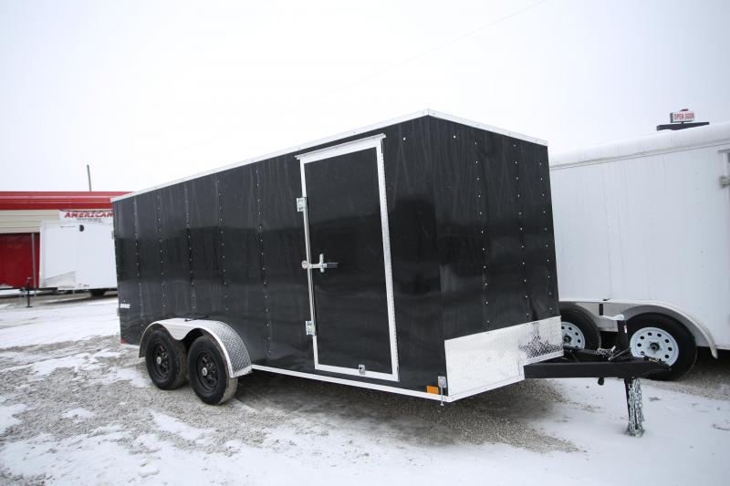 NEW Impact Trailers 7 X 16 Ramp Door Enclosed Cargo Trailer