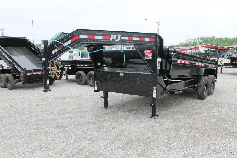 2021 PJ Trailers 16' DL GN Dump Trailer