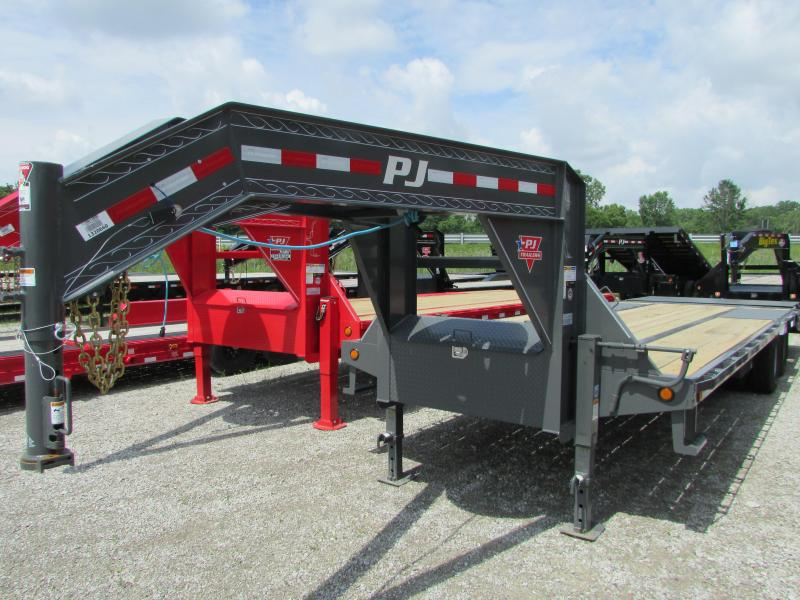 2020 PJ Trailers 27 ft Power Tail Gooseneck Equipment Trailer
