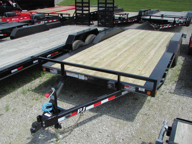 2020 PJ Trailers 20 ft Drive Over Fender Flatbed Trailer