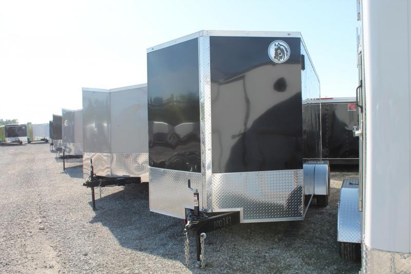 "2020 Darkhorse Cargo 7'X16' + 12"" RD Enclosed Cargo Trailer"