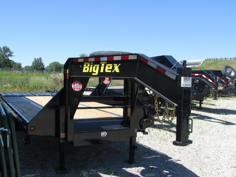 2019 Big Tex Trailers 25 ft Mega Ramps Gooseneck Flatbed Trailer