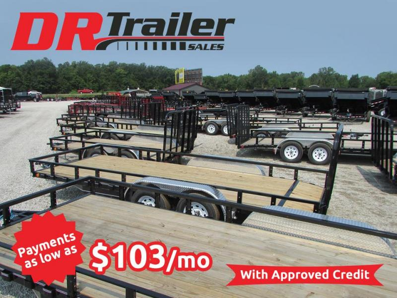 2020 PJ Trailers 18 ft Commercial Grade Landscape Flatbed Trailer