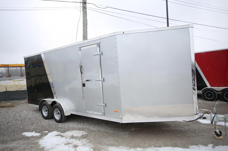 "2020 RC Trailers 7 x 23 + 12"" Snowmobile Trailer"