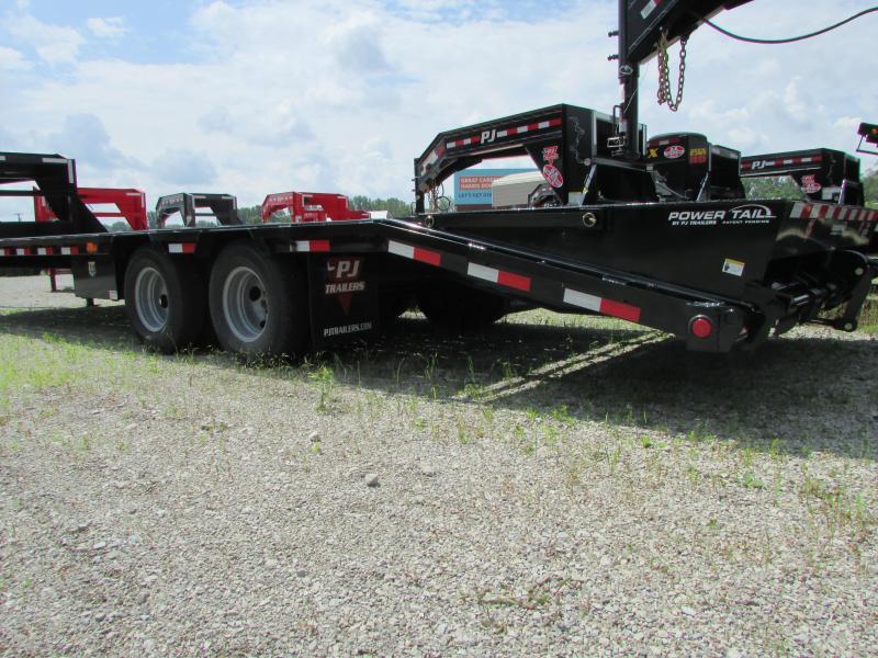 2020 PJ Trailers 29 ft Gooseneck Power Tail Equipment Trailer