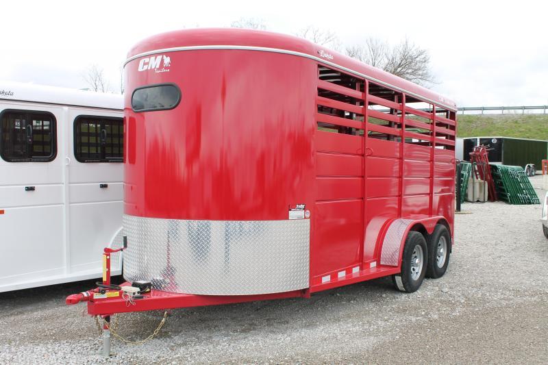 2020 CM 3 HORSE STOCK Livestock Trailer