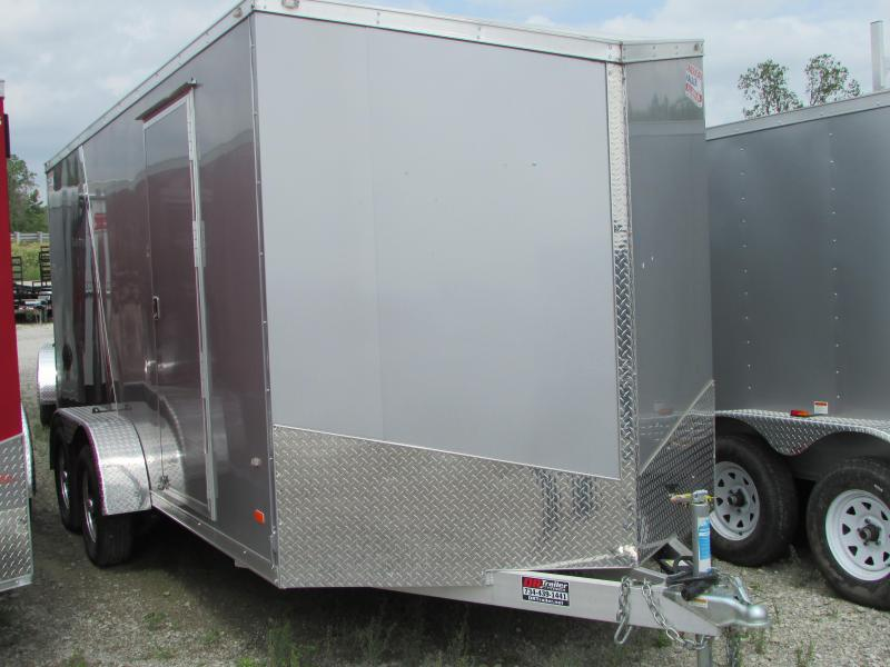2019 American Hauler Industries 7 x 16 Aluminum Enclosed Cargo Trailer
