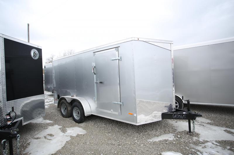 NEW RC Trailers 7 x 14 Ramp Door Enclosed Cargo Trailer