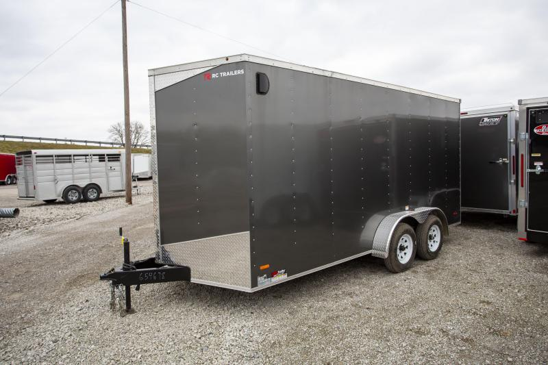 2020 RC Trailers 7 x 16 + 12in Height Enclosed Cargo Trailer
