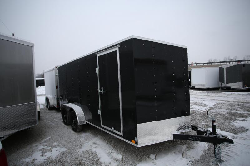 NEW Impact Trailers 7 x 16 Ramo Door Enclosed Cargo Trailer