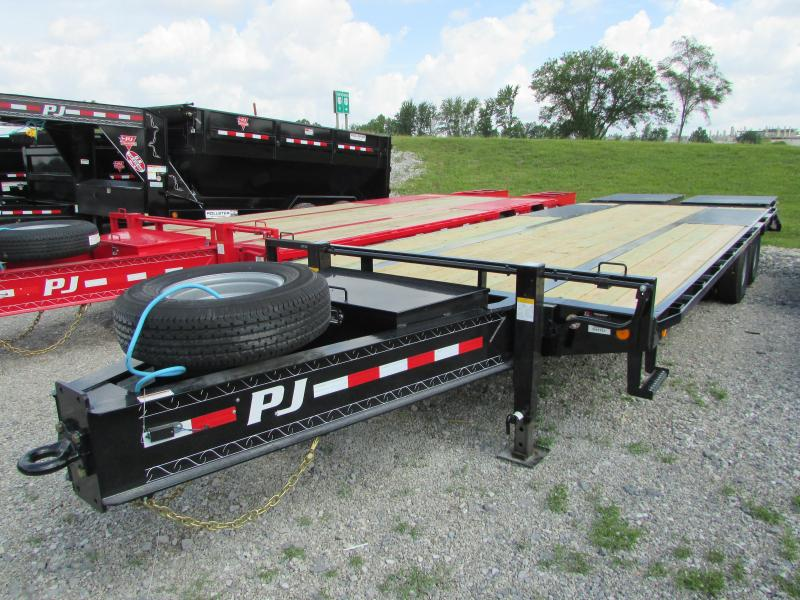2020 PJ Trailers 25 ft Low Profile 25k GVWR Equipment Trailer